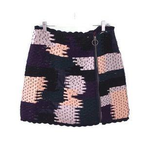 Not So Serious Anthropologie Woven Knit Mini Skirt
